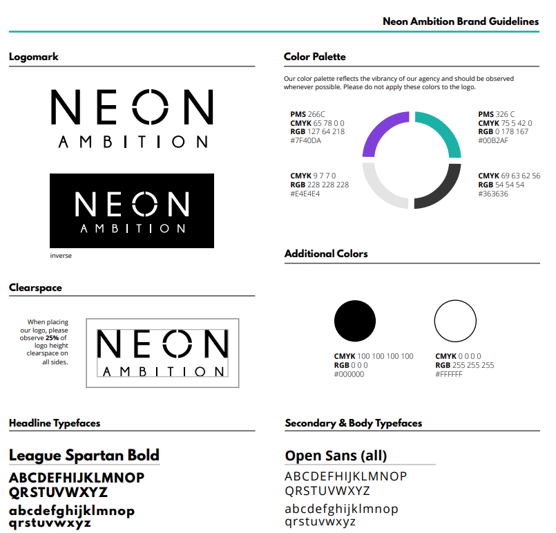 Neon brand guidelines